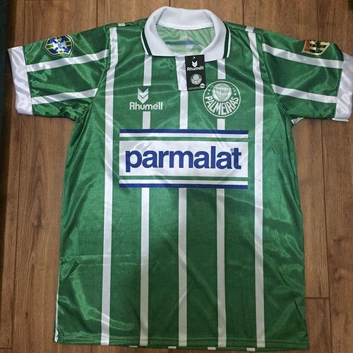 camisa palmeiras listrada - parmalat - 1993 - retrô - num. 7