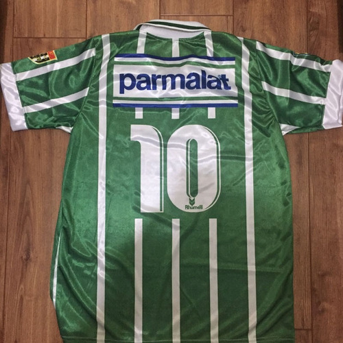 camisa palmeiras listrada - parmalat - campeão 1993 - retrô