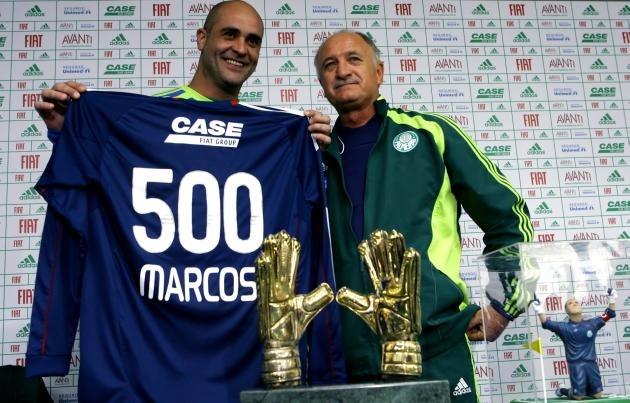 17ef79f04 Camisa Palmeiras Oficial Goleiro Marcos Histórica 500 Jogos - R ...