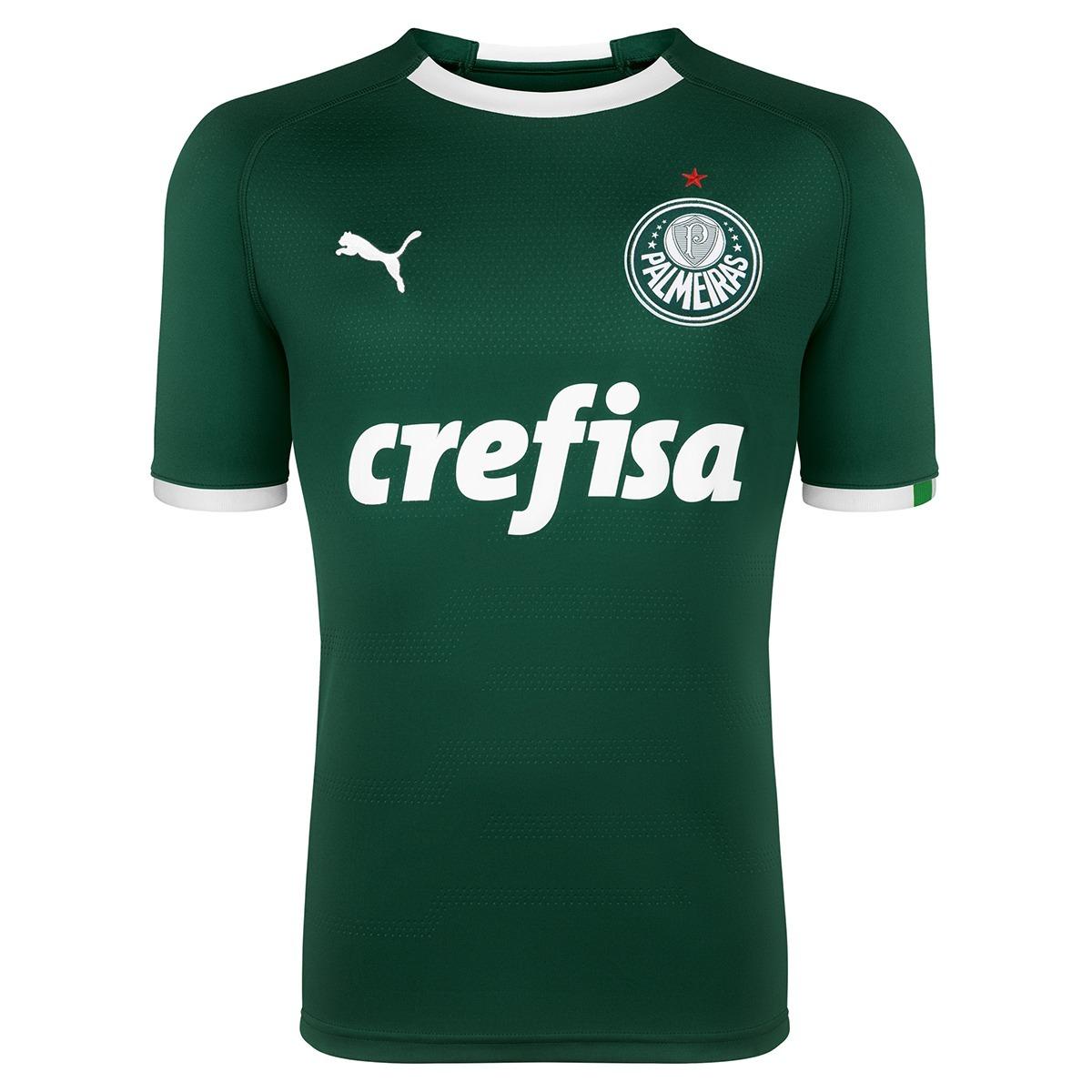 Camisa Palmeiras Original Puma 2019 Verde branca - R  179 b936605cd75d8