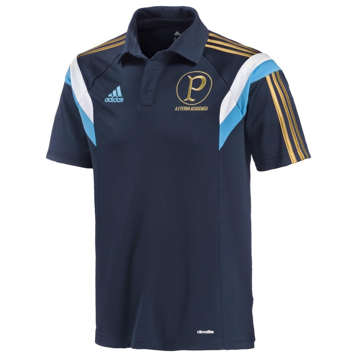 ca25e98c0b9cd camisa palmeiras polo azul marinho treino academia f gratis. Carregando zoom .