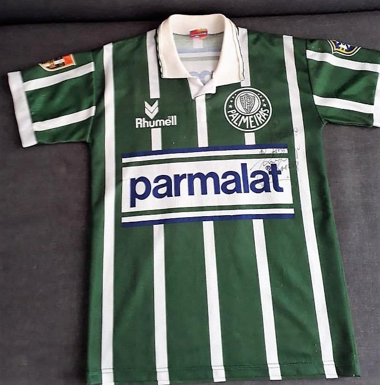 c4cacbded846f camisa palmeiras parmalat 1994 - autografada por galeano. Carregando zoom...  camisa palmeiras por