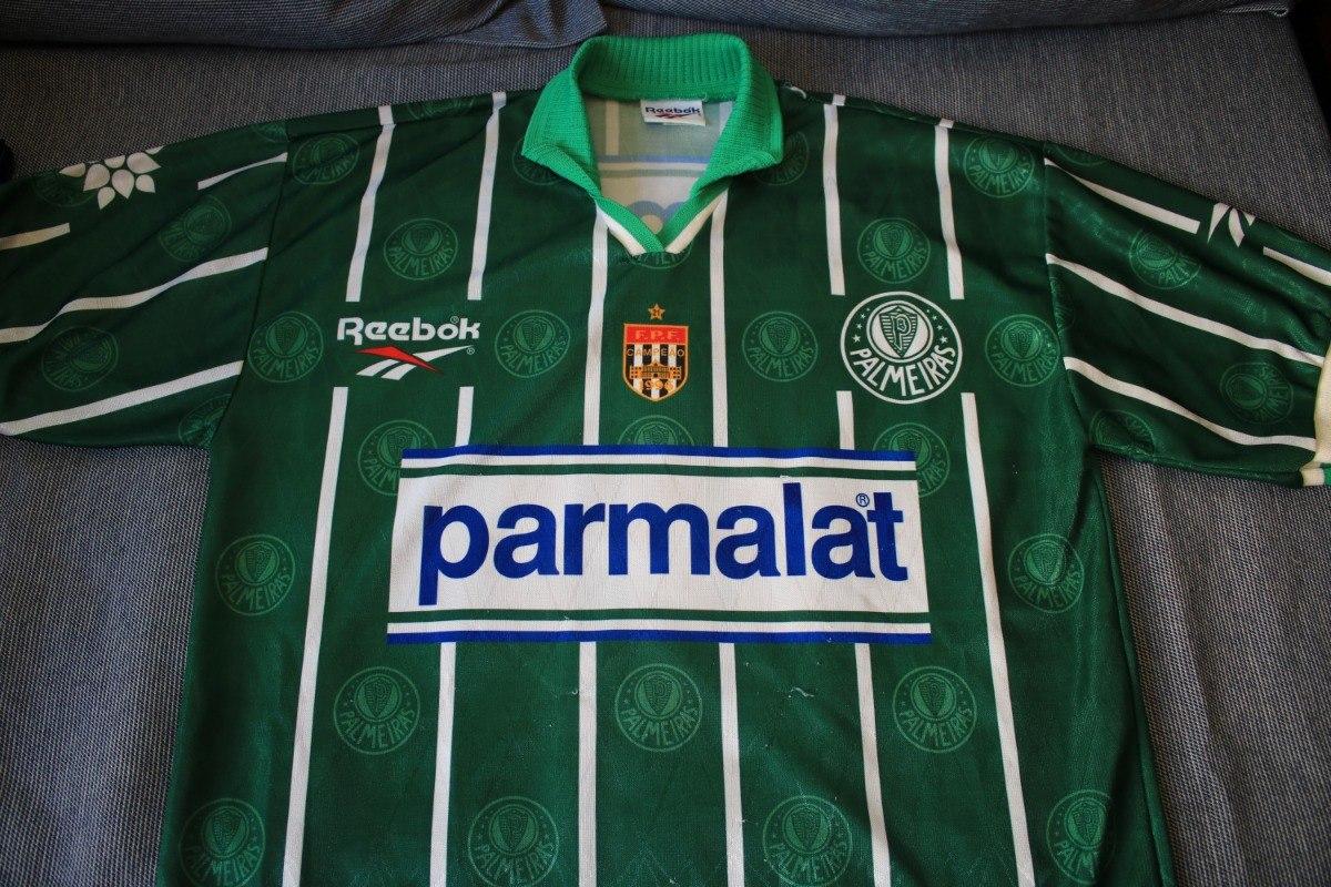 camisa palmeiras reebok 1996 1997 original - parmalat. Carregando zoom. 4d32267c9685f