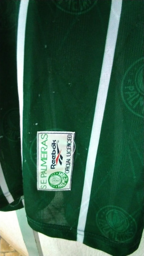 camisa palmeiras reebok oficial parmalat usada