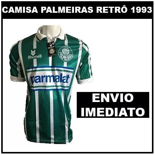 1e412a3511 Camisa Palmeiras Retro Parmalat 1993 - Super Promoção - R  58