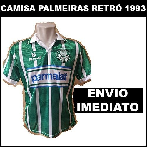 bb3f94a1be Camisa Palmeiras Retro Parmalat 1993 - Super Promoção - R  60
