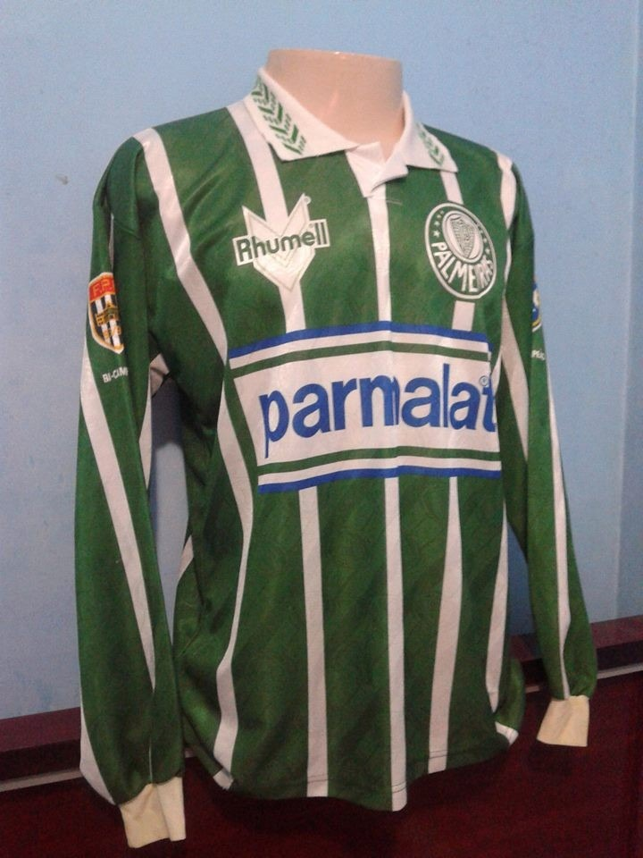 7330848556314 Camisa Palmeiras Rhumell 1993 94 Manga Longa -  edmundo - R  400