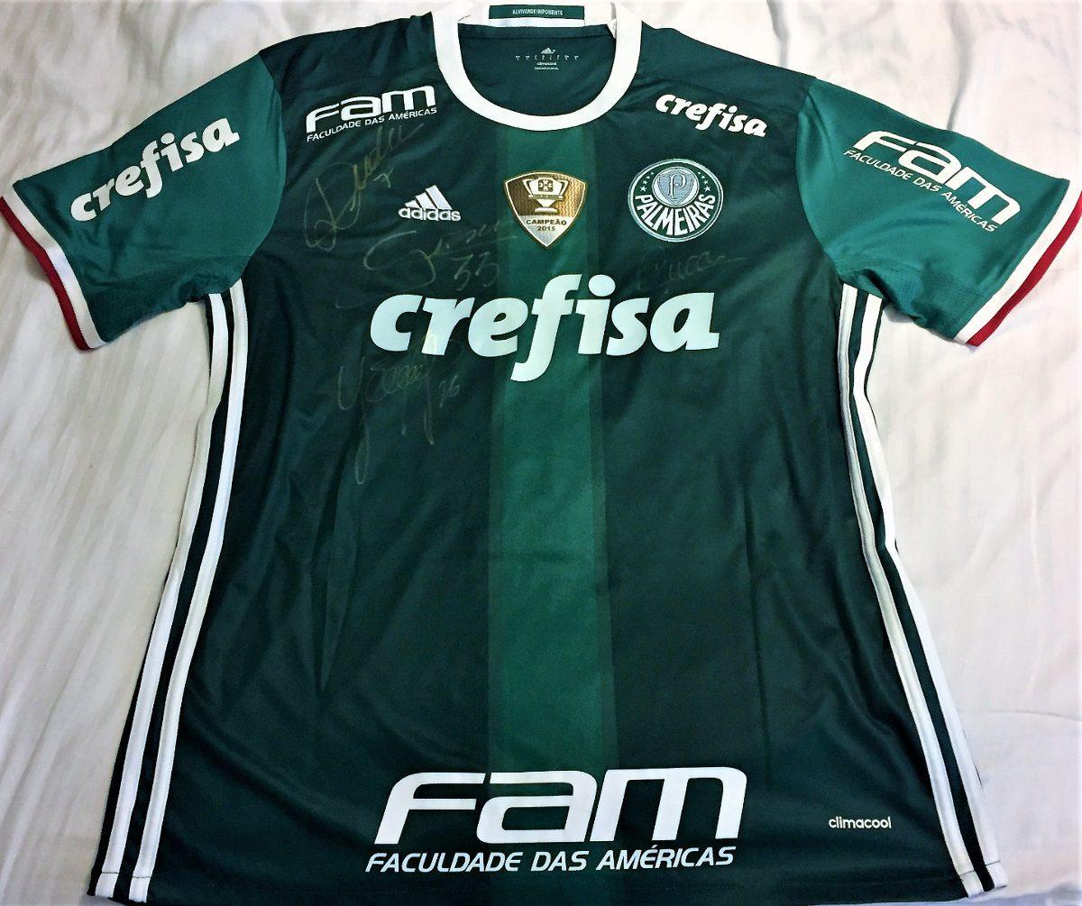 88bee9617c9be camisa palmeiras usada jogo brasileiro 2016 autografada. Carregando zoom.