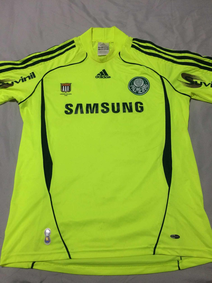 f52b32e07b2ff camisa palmeiras verde limão adidas original marca texto. Carregando zoom.