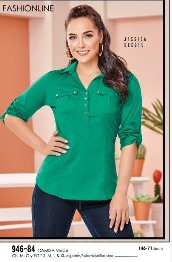 fb73c3170 Camisa Para Dama Color Verde 946-84 Cklass Cfd Remate -   491.00 en ...
