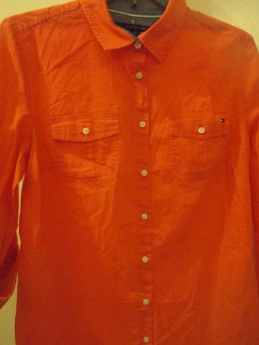 camisa para dama marca tommy hilfoger talla m importado