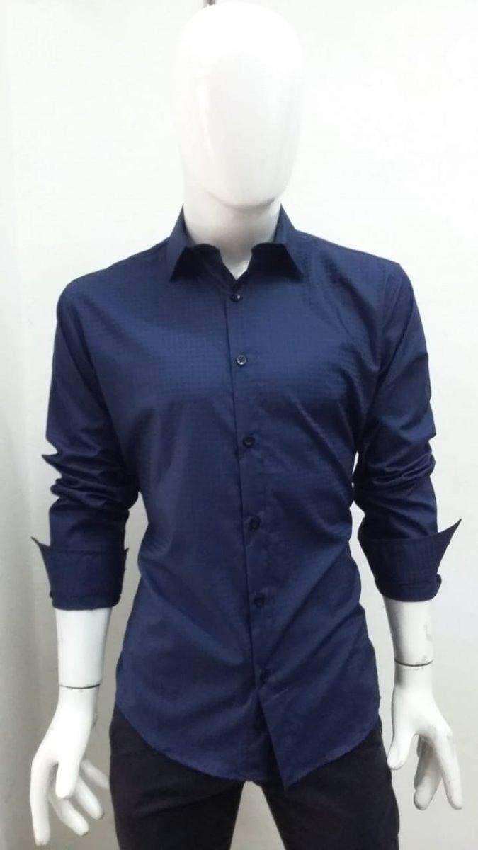 4fed1b82ed778 Camisa para hombre color azul marino en mercado libre jpg 675x1200 Camisas  imagen de color azul