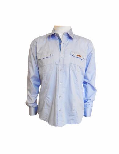 camisa para hombre manga larga lisa clásica by motor oil