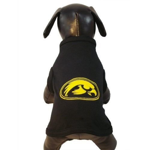 camisa para perro ncaa iowa hawkeyes algodón lycra sin mang