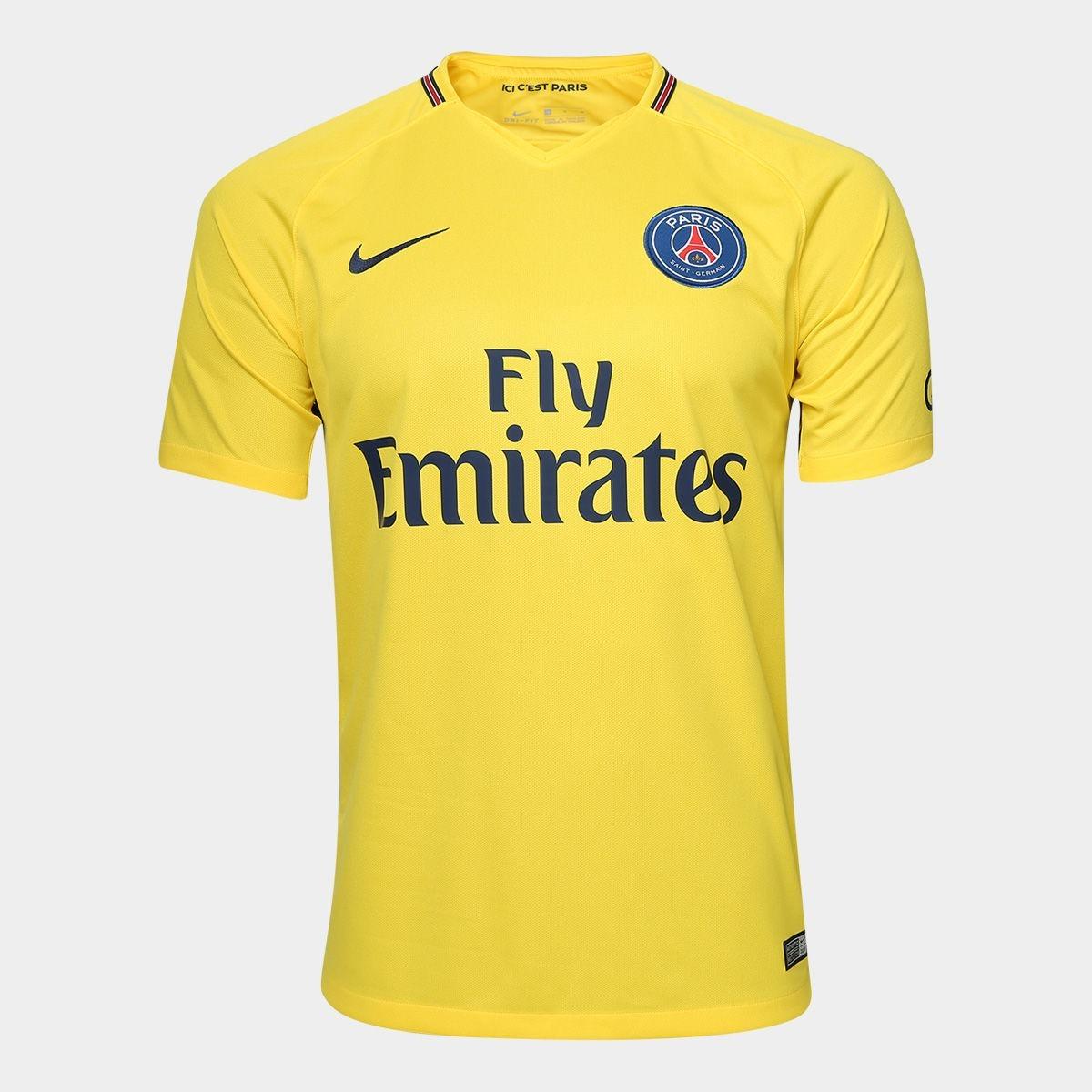 f7cad0d4917bb camisa paris saint germain away 2018 nº 10 neymar jr-amarela. Carregando  zoom.