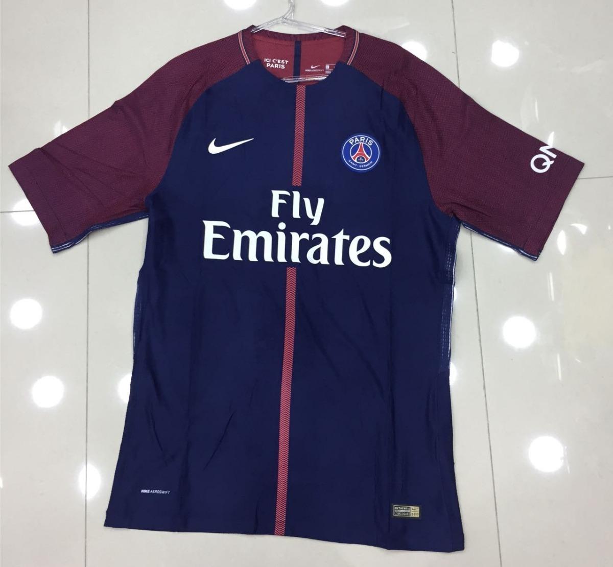 camisa paris saint germain home 17 18 neymar jr 10. Carregando zoom. 8ae041a5b38bf