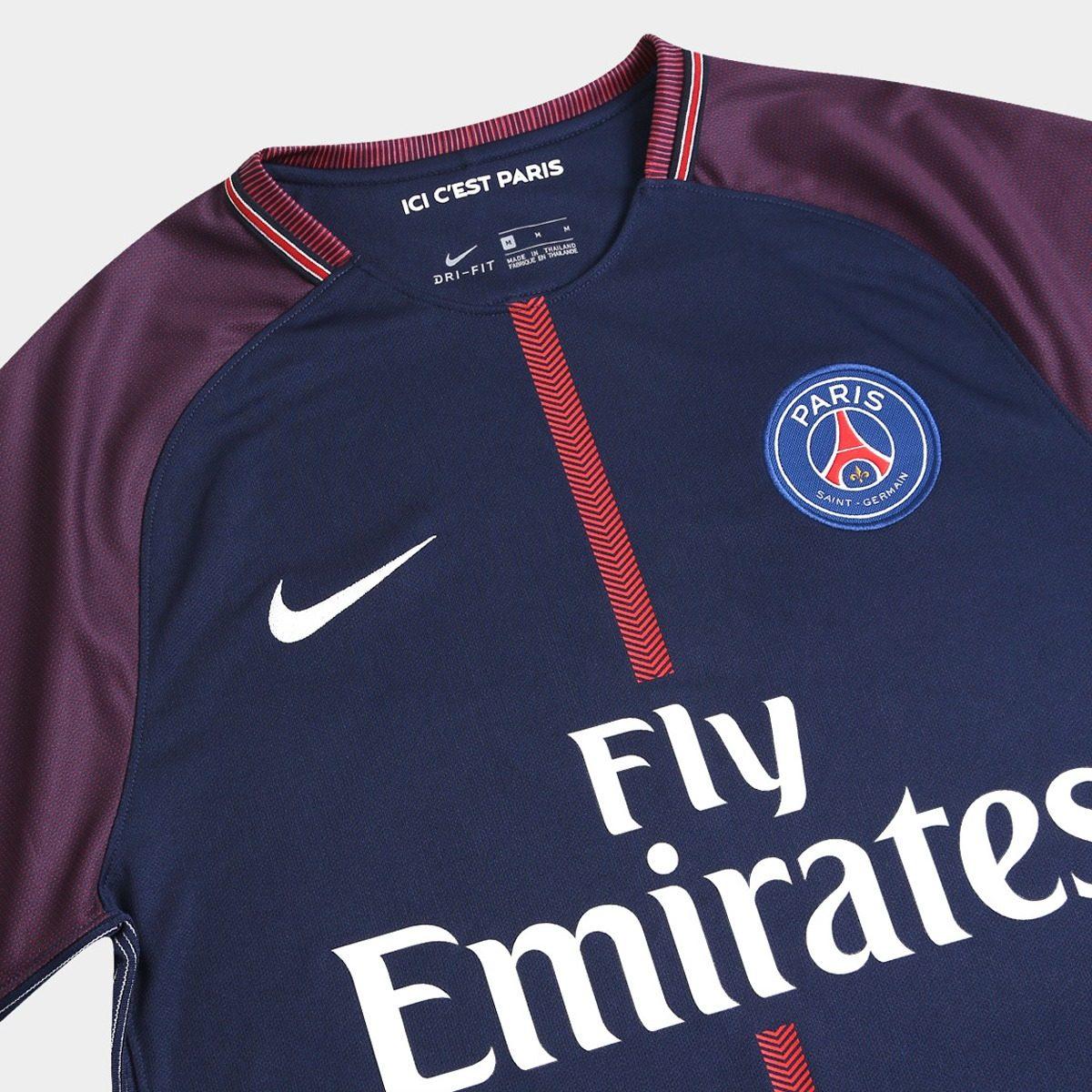 f80a8f6b00d31 Camisa Paris Saint Germain Home 17 18 S nº Torcedor Nike - R  100