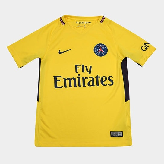 b546708a3db79 Camisa Paris Saint Germain Home 17 18 S nº Torcedor Nike Mas - R ...
