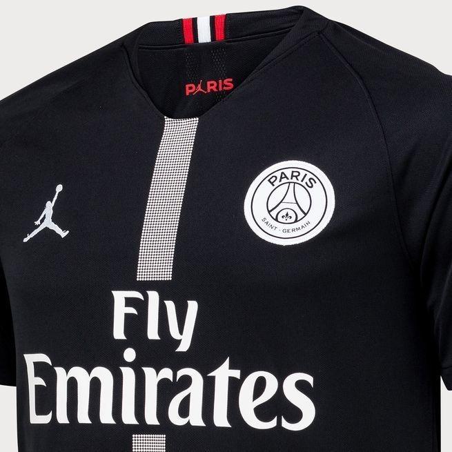 0836dc717 Camisa Paris Saint Germain Preta Camiseta Jordan Psg Oferta - R  135 ...