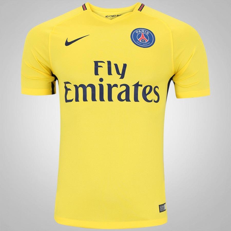 72759e8bb camisa paris saint germain psg 17 18 amarela. Carregando zoom.