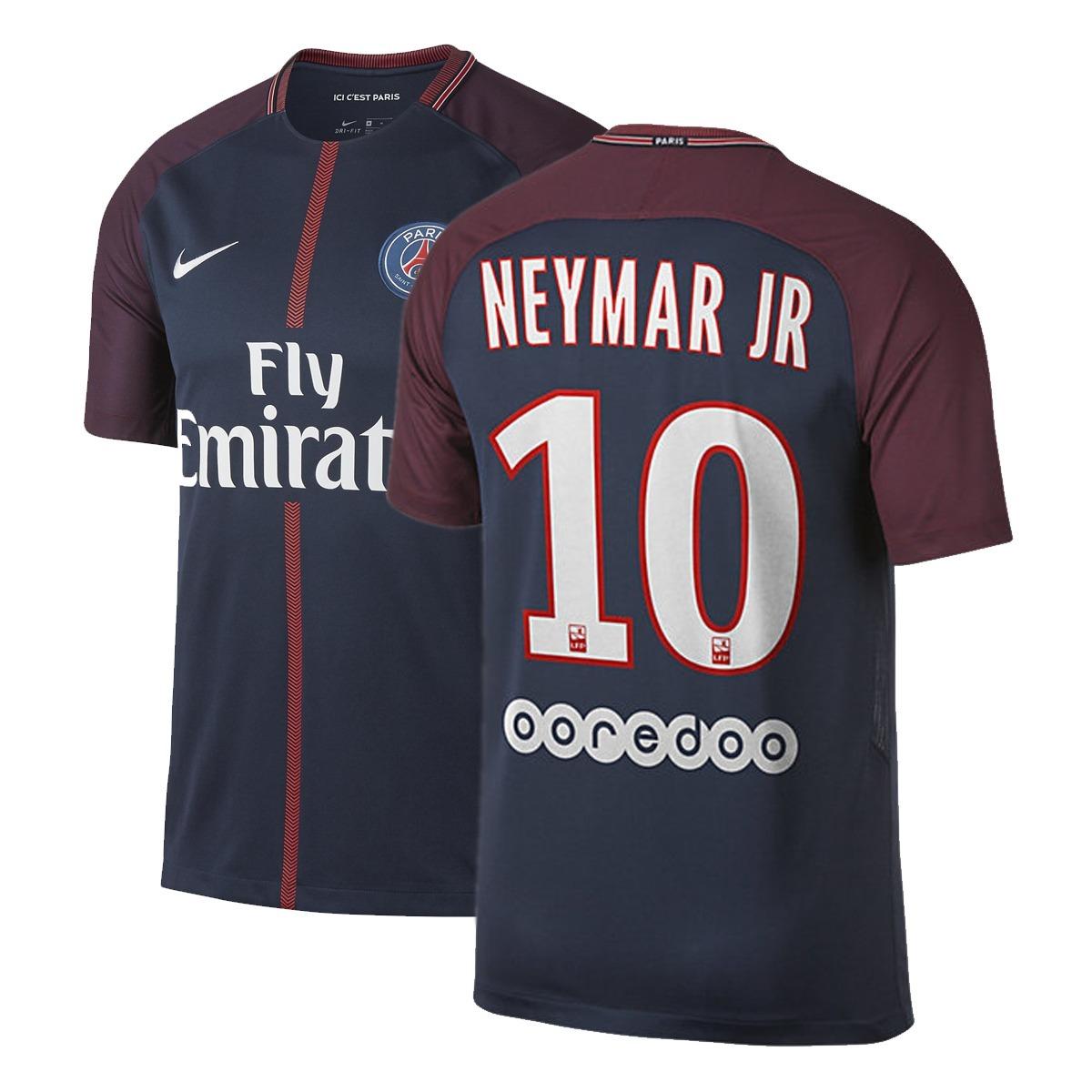 a2cb65588 camisa paris saint germain psg 17 18 neymar 10 nike. Carregando zoom.