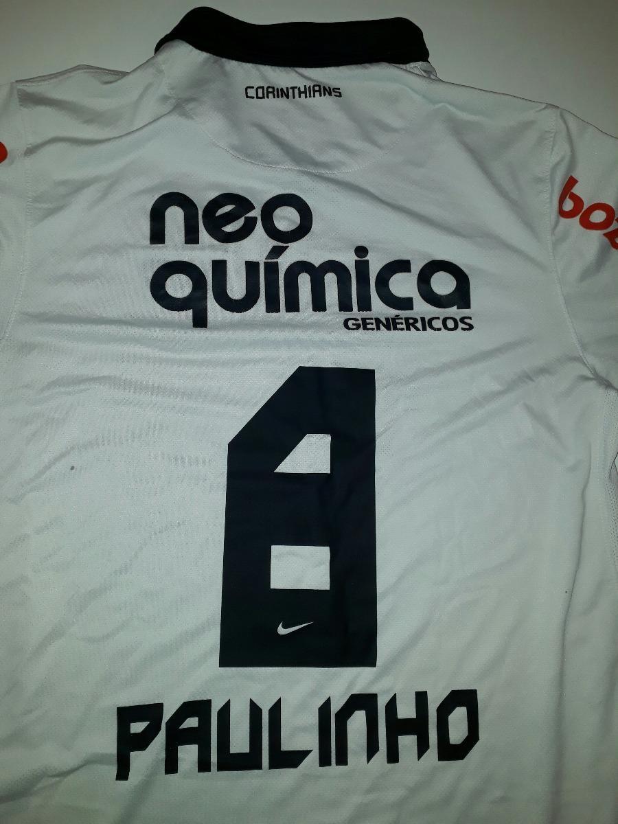 camisa paulinho corinthians nike campeão brasileiro 2011- 63. Carregando  zoom. a6cd509e9f581