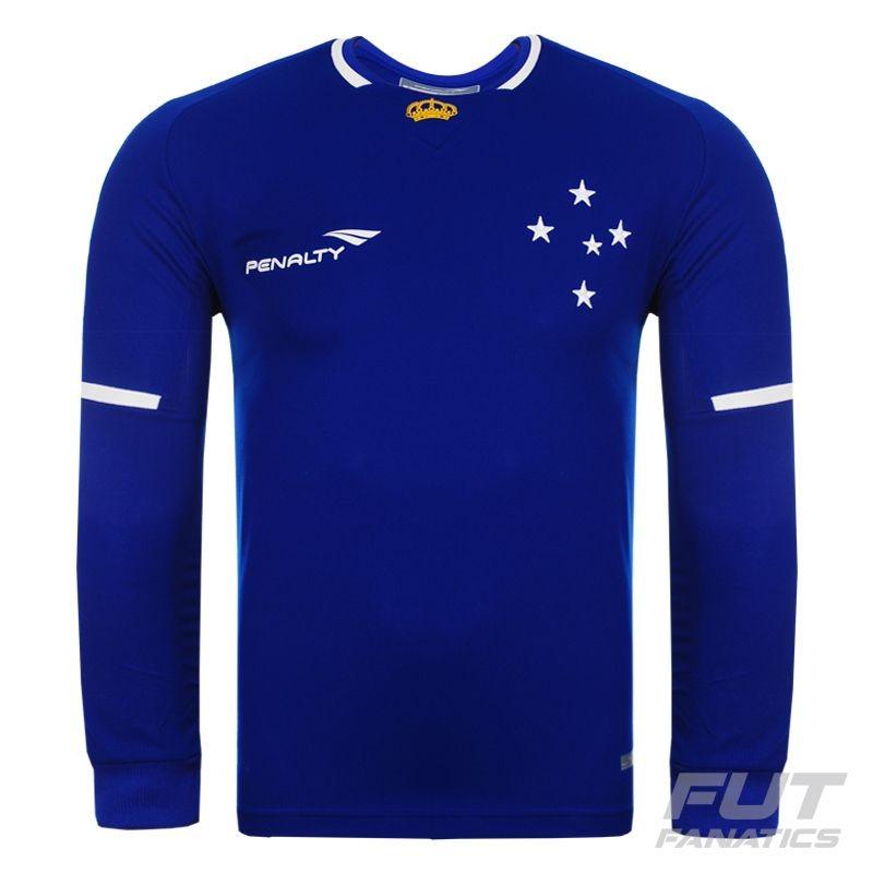 camisa penalty cruzeiro i 2015 manga longa - futfanatics. Carregando zoom. 1744069f97b9a