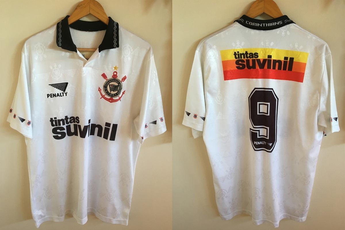 e028cec332a8b camisa penalty suvinil corinthians 1995 número 9 original. Carregando zoom.