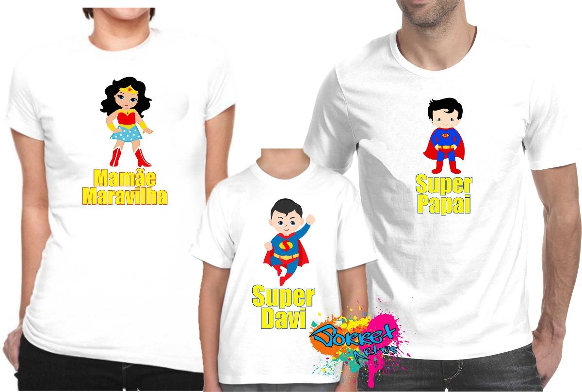 954336886 camisa personalizada festa super homem e mulher maravilha a4. Carregando  zoom.