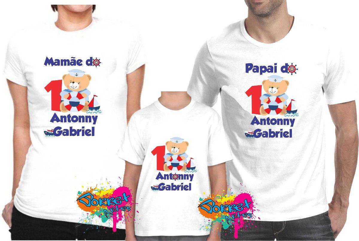 Camisa Personalizada Para Festa Ursinho Marinheiro A4 - R  106 8877ea514fc5c