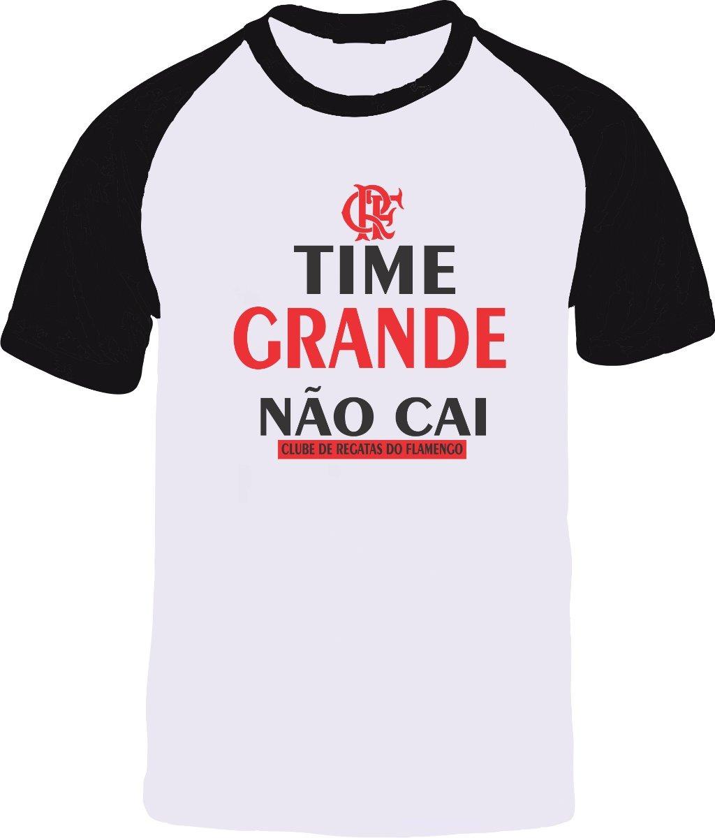 Camisa Personalizada Raglan Frase Futebol Mengão Time Grande