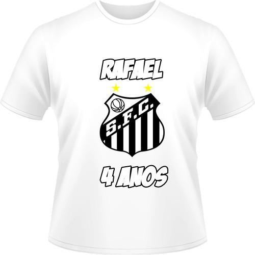 Camisa Personalizada Santos Infantil Adulto + Nome - R  25 4d8ca98b8ba4b