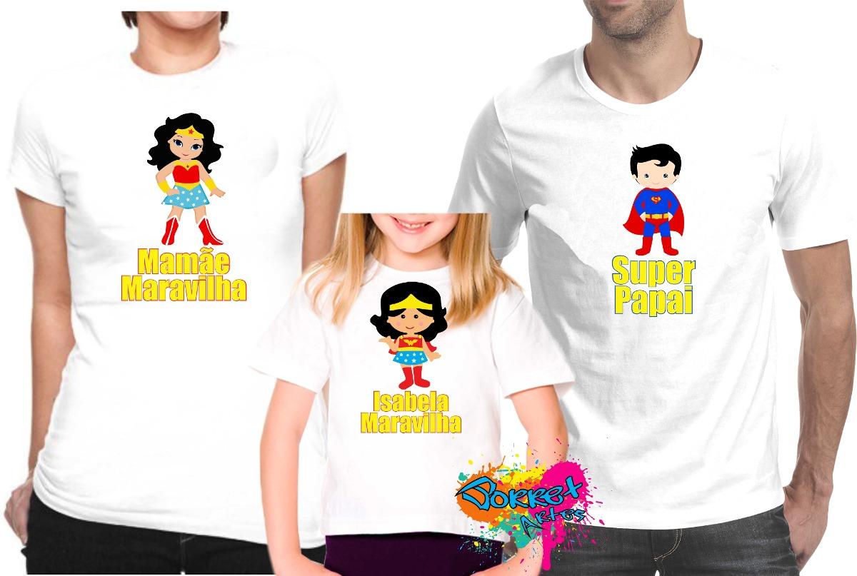 d882f62bb camisa personalizada super homem e mulher maravilha. Carregando zoom.