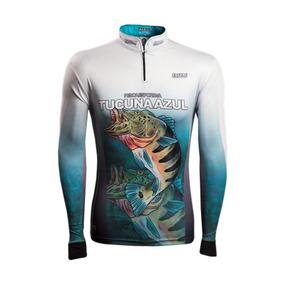1efb91dc2d11a2 Camisa Pesca Brk Tucunaré Azul 1.0 Com Fps 50-tamanho Pp