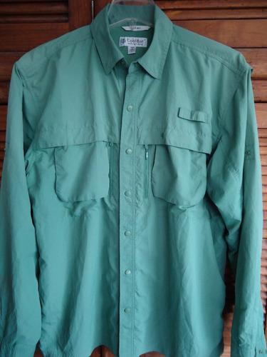 camisa pesca campismo talla l  upf 50+ ventilación