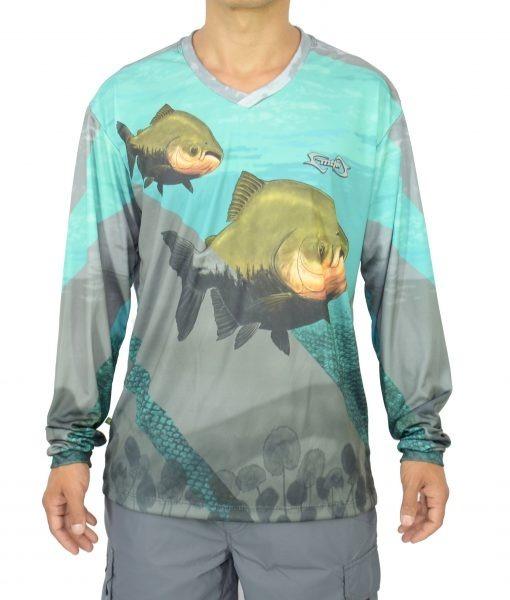 Camisa Pesca Mtk Atack Proteção Solar Filtro Uv Cor Tamba Gg - R  72 ... b0eb022c47b3c