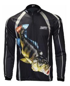 0144275cc8fdf3 Camisa Pesca Pqs Dry Proteção Tucunare Uv 50+ Ref 31