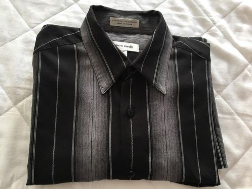 camisa pierre cardin original mide de axila 60 cms t/de usa