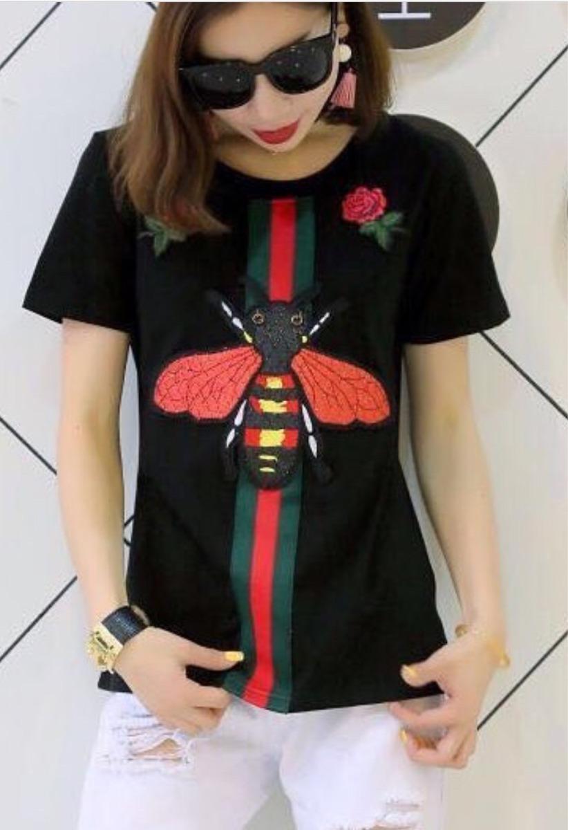 camisa playera mujer moda gucci precio por volumen abeja. Cargando zoom. 3175b8b7c8c