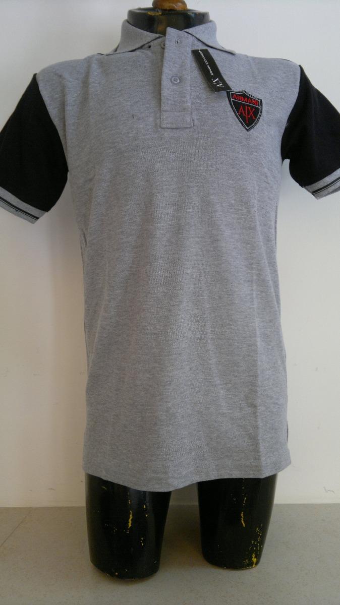 c92c43c7c4719 camisa playera polo color negro con gris armani exchange. Cargando zoom.