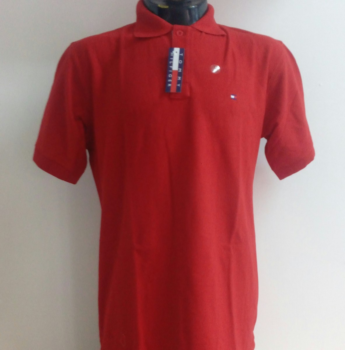 b90d80b18a3cc camisa playera polo tommy hilfiger color rojo quemado hombre. Cargando zoom.