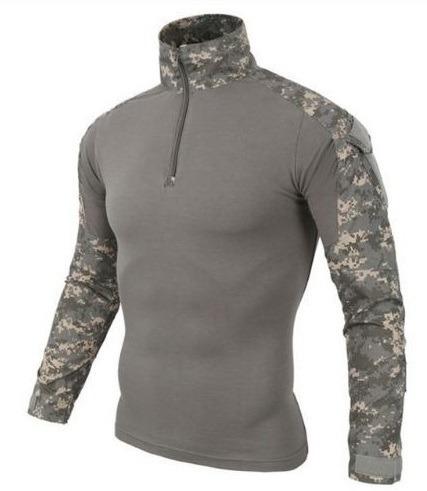 camisa playera tactica militar combat gotcha airsoft jersey