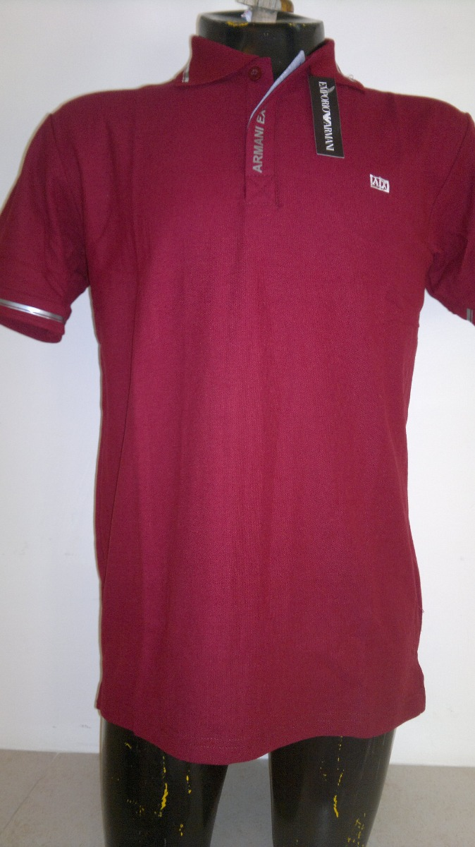e2570bdbc5fad Camisa Playera Tipo Polo Armani Exchange Color Vino -   399.00 en ...