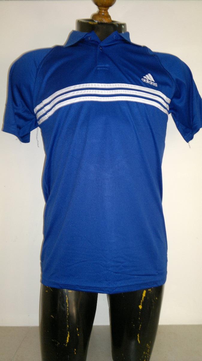 b0701fe2cc556 camisa playera tipo polo azul con blanco adidas dry fit. Cargando zoom.