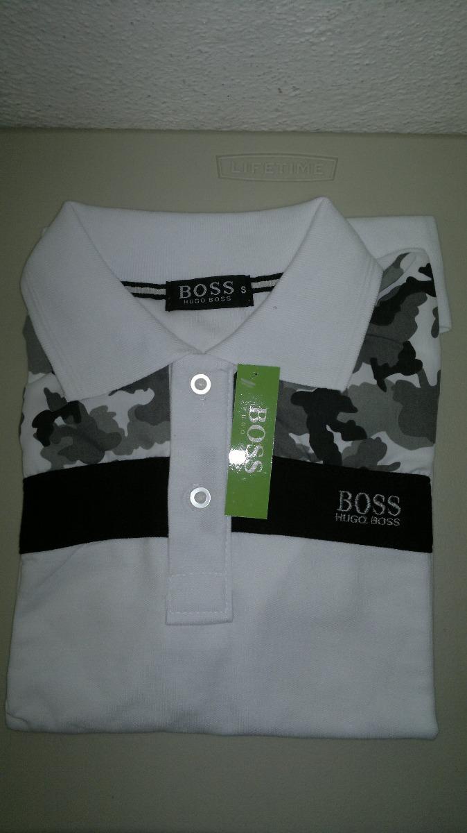 6e0f40bc26e93 camisa playera tipo polo hugo boss blanco estampado militar. Cargando zoom.