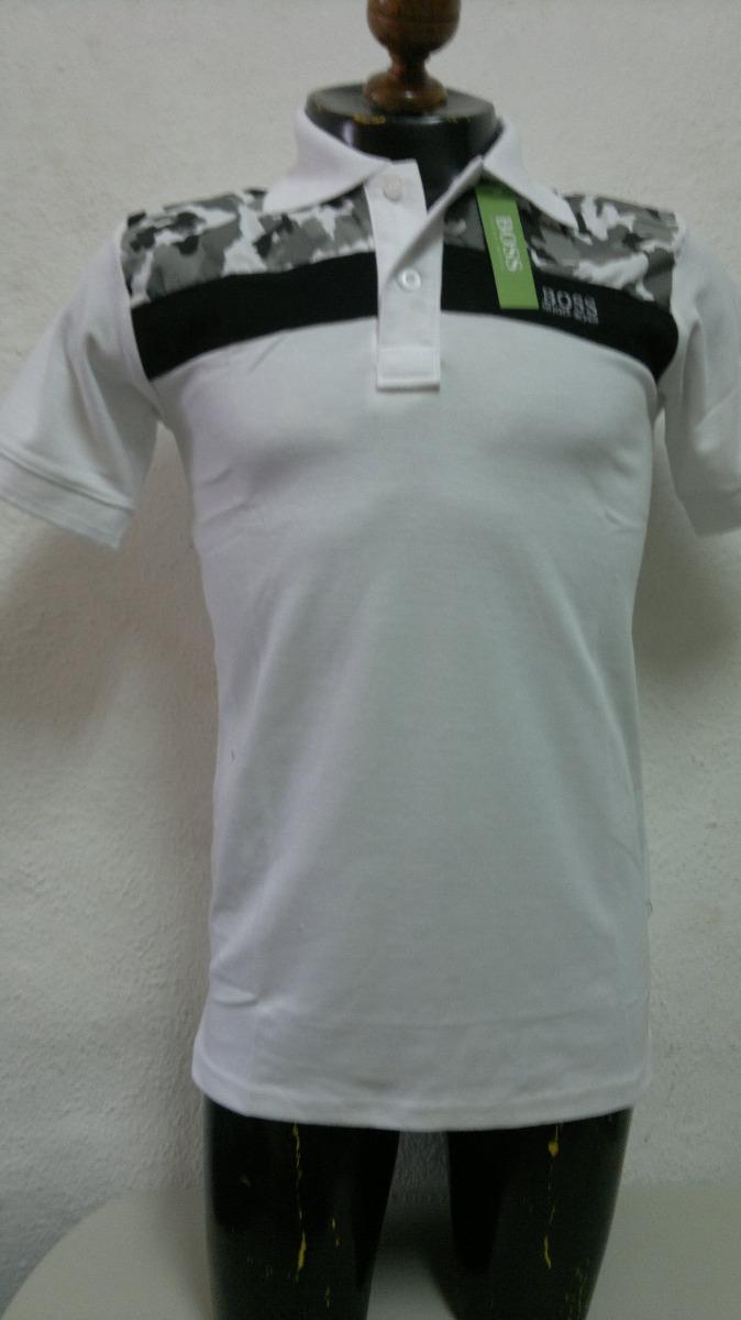 089867a8265f4 camisa playera tipo polo hugo boss blanco estampado militar. Cargando zoom.