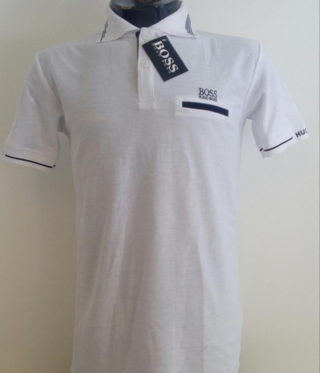 camisa playera tipo polo hugo boss color blanco negro casual. Cargando zoom. 2745813150232