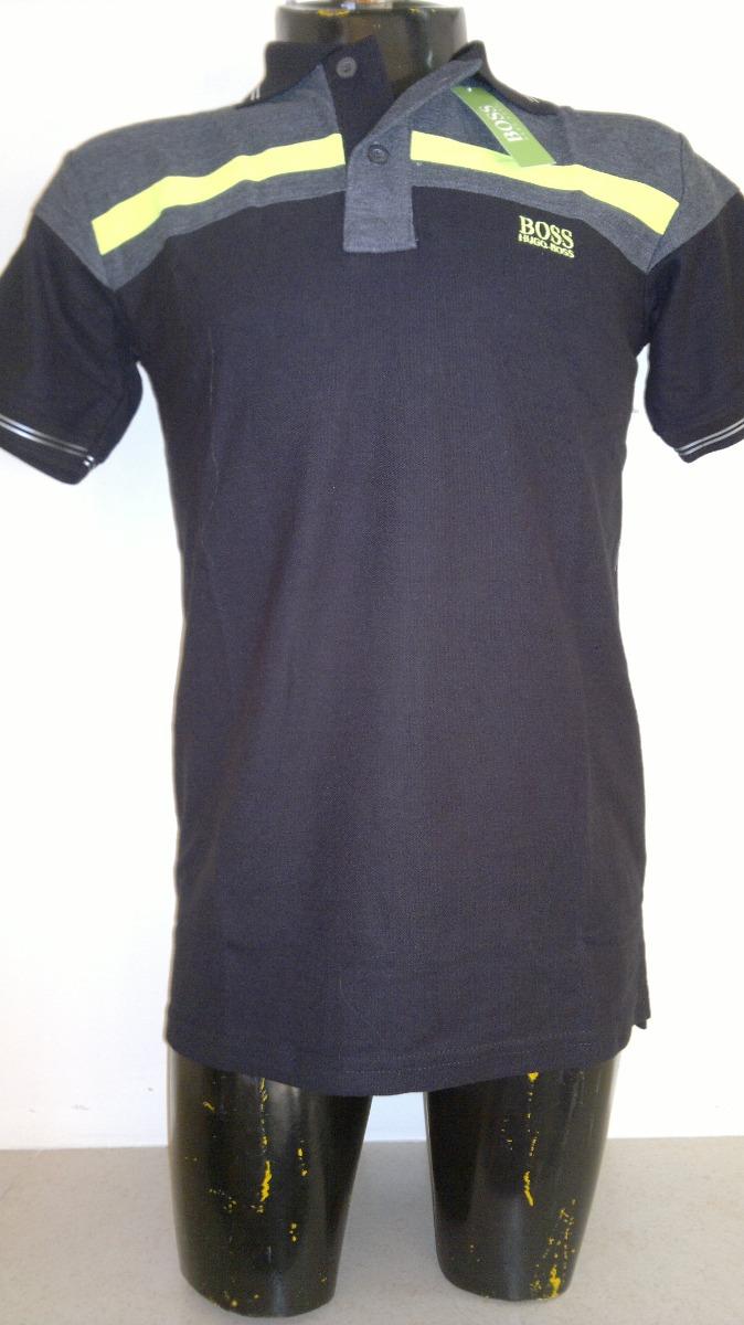 c10cb070114f6 camisa playera tipo polo hugo boss color gris con negro. Cargando zoom.