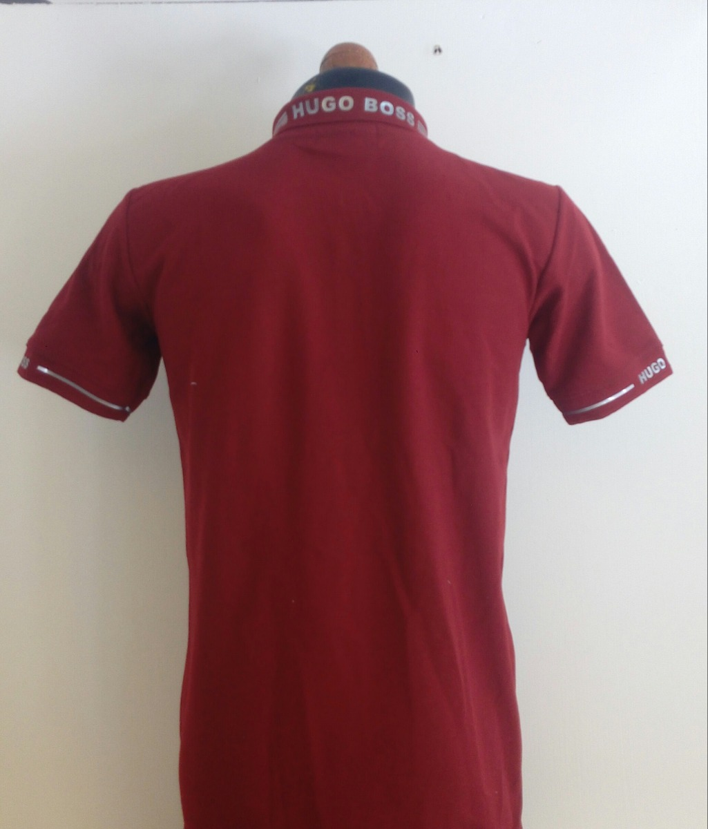 5be9e1c666dfa camisa playera tipo polo hugo boss color vino gris casual. Cargando zoom.