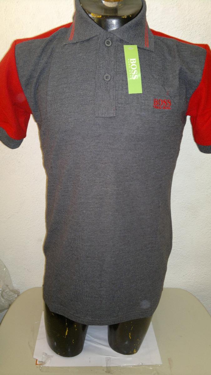 ... promo code for camisa playera tipo polo hugo boss gris rojo. cargando  zoom. b14a4 0367447df6a